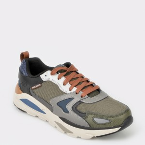 Pantofi sport SKECHERS gri, 66020, din material textil