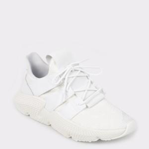 Pantofi sport ADIDAS albi, Db2705, din material textil