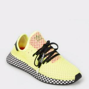 Pantofi sport ADIDAS galbeni, Cg5943, din material textil