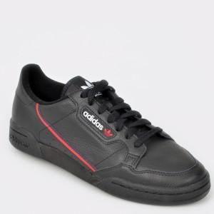 Pantofi sport ADIDAS negri, G27707, din piele naturala