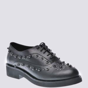 Pantofi Flavia Passini Negri, 4460932, Din Piele Naturala