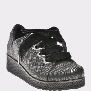 Pantofi Flavia Passini Gri, Mm1111, Din Piele Naturala