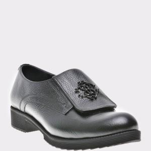 Pantofi Flavia Passini Negri, Or822, Din Piele Naturala