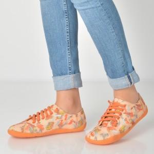 Pantofi Camper Portocalii, K200587, Din Material Textil