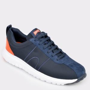 Pantofi CAMPER bleumarin, K100405, din material textil si piele naturala