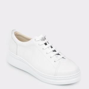 Pantofi sport CAMPER albi, K200508, din piele naturala