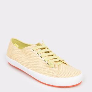 Pantofi CAMPER galbeni, 21897, din material textil