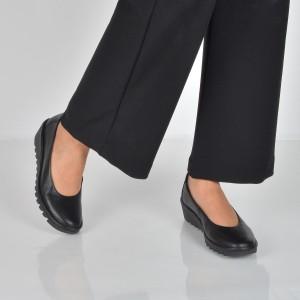 Pantofi The Flexx Negri, Melodia, Din Piele Naturala