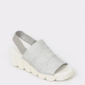 Sandale The FLEXX albe, Slinked, din piele naturala