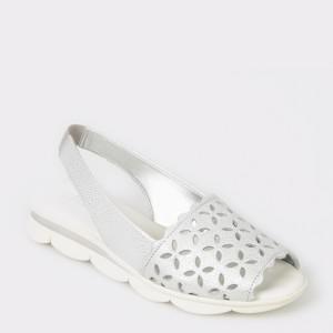 Sandale The FLEXX argintii, Easyban, din piele naturala