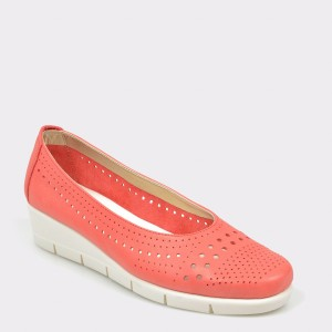 Pantofi The FLEXX corai, Palomin, din piele naturala