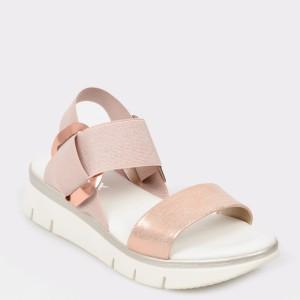 Sandale The FLEXX nude, Fonzie, din piele naturala si material textil