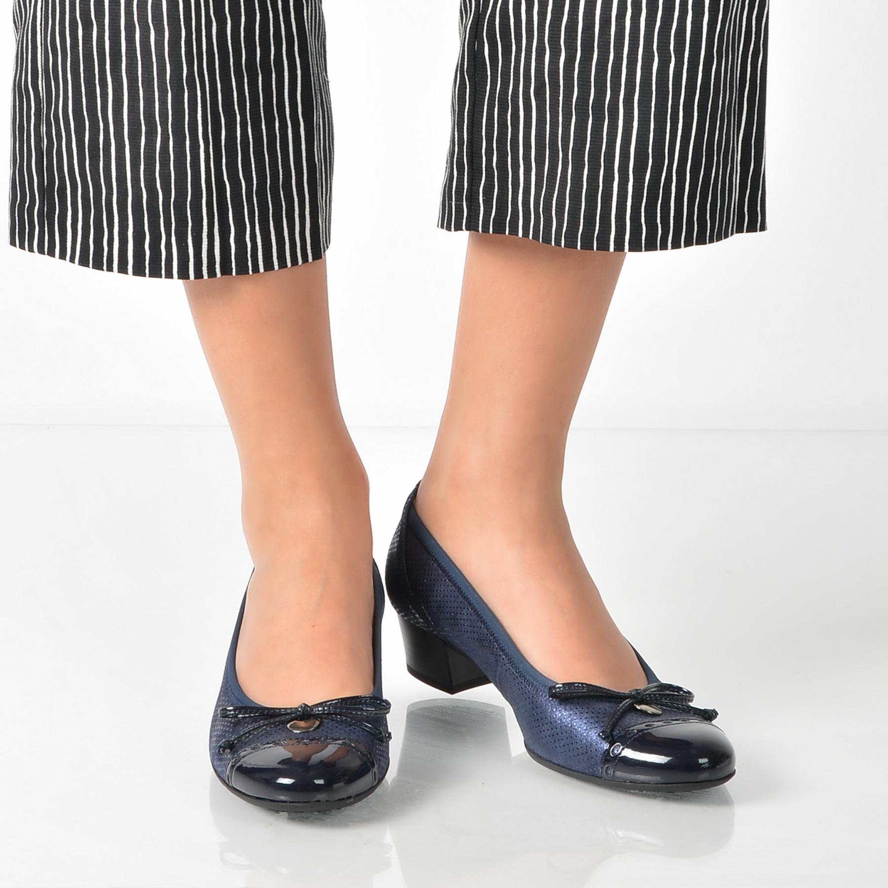 Pantofi Gabor Bleumarin, 82203, Din Piele Intoarsa