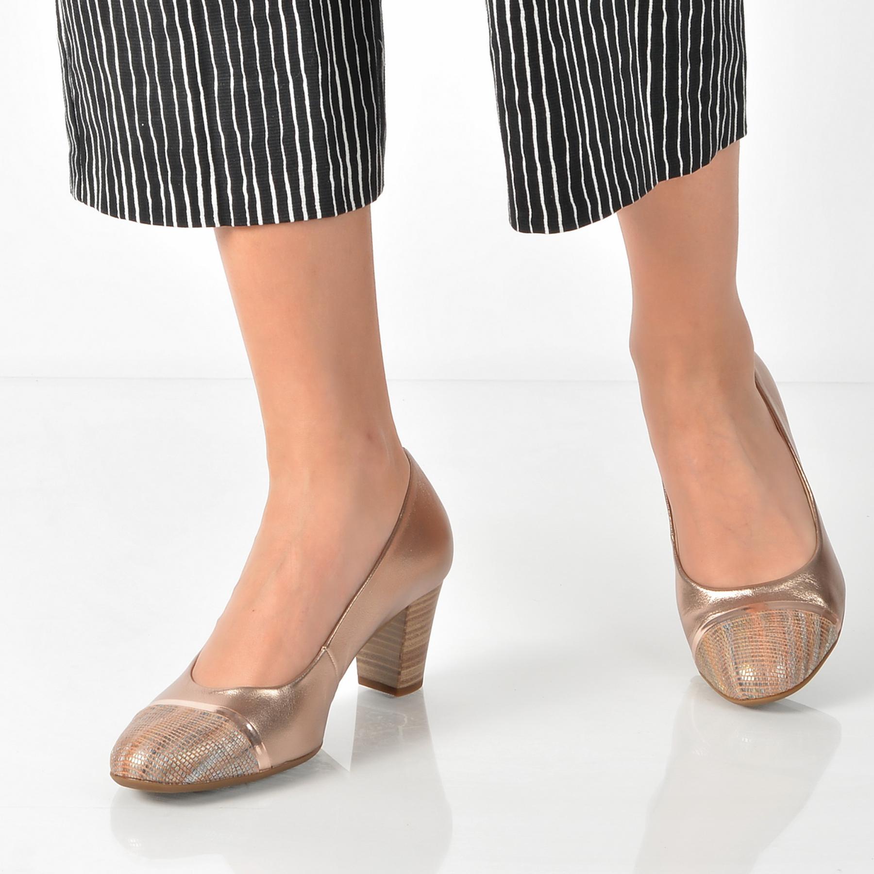 Pantofi Gabor Aurii, 82162, Din Piele Naturala