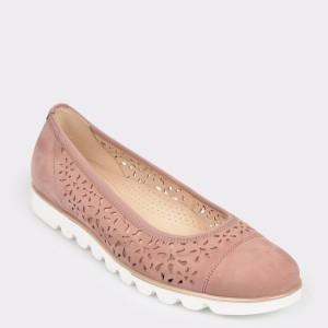 Pantofi GABOR nude, 22423, din nabuc