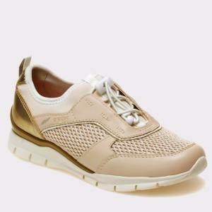 Pantofi Sport Pentru Copii Geox Crem, J723ga9, Din Piele Ecologica