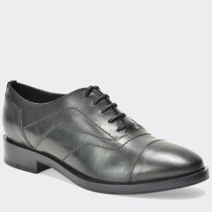 Pantofi Geox Negri, D642ug, Din Piele Naturala