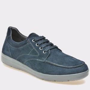 Pantofi Geox Bleumarin, U743qb, Din Piele Intoarsa