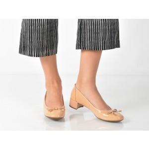 Pantofi Geox Nude, D82v8d, Din Piele Naturala