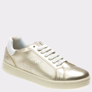 Pantofi Pentru Copii Geox Aurii, J824ma, Din Piele Ecologica