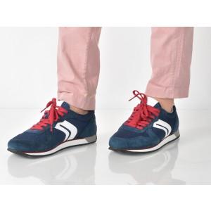Pantofi Sport Geox Albastri, U742lc, Din Material Textil