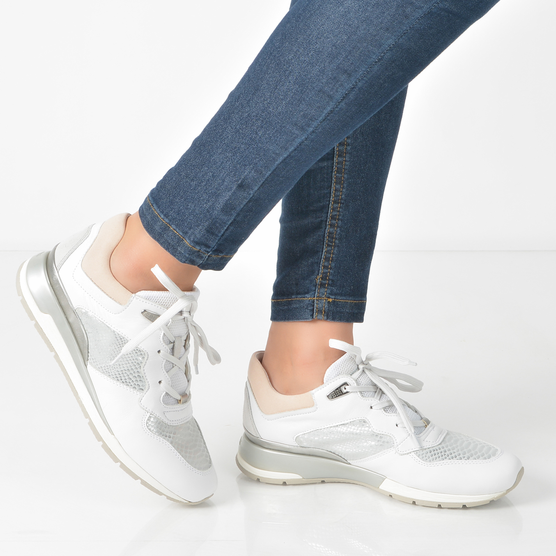 Pantofi Sport Geox Albi, D62n1b, Din Piele Naturala