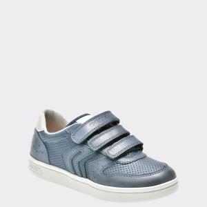 Pantofi Sport Pentru Copii Geox Bleumarin, J825vb, Din Piele Ecologica