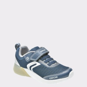 Pantofi Sport Pentru Copii Geox Bleumarin, J826pb, Din Material Textil