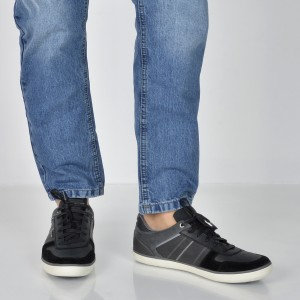 Pantofi GEOX gri, U84R3C, din piele intoarsa