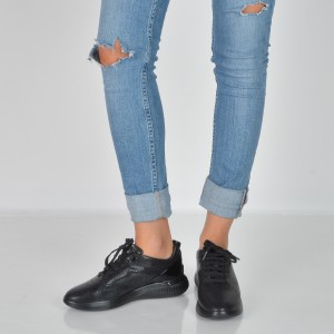 Pantofi GEOX negri, D828Sc, din piele naturala