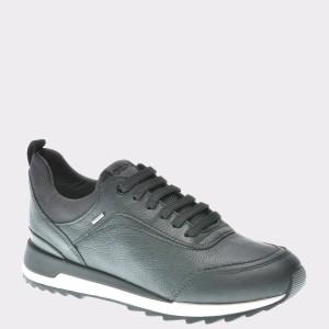Pantofi Geox Negri, D843fa, Din Piele Naturala