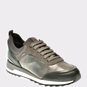Pantofi Geox Gri, D843fa, Din Piele Ecologica