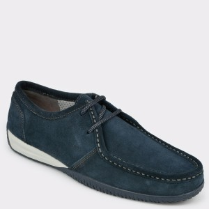 Pantofi Geox Bleumarin, U927ab, Din Piele Intoarsa