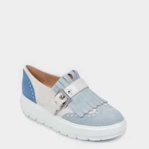 Pantofi GEOX albastri, D92Anb, din piele intoarsa