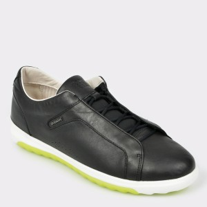 Pantofi sport GEOX negri, U927Ga, din piele naturala