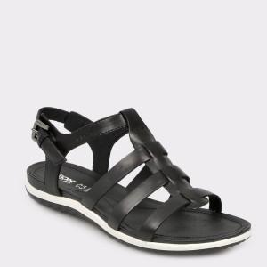Sandale GEOX negre, D72R6A, din piele naturala