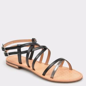 Sandale GEOX negre, D922Cl, din piele ecologica