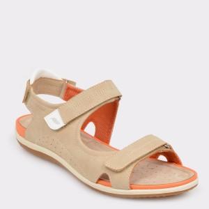 Sandale GEOX bej, D52R6A, din piele ecologica