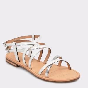 Sandale GEOX albe, D922Cl, din piele ecologica