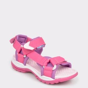 Sandale pentru copii GEOX roz, J720Wa, din material textil