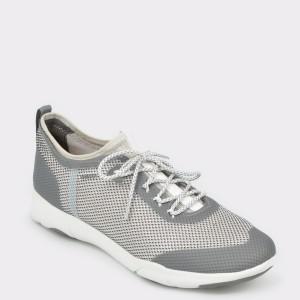 Pantofi sport GEOX albi, U826Ba, din material textil