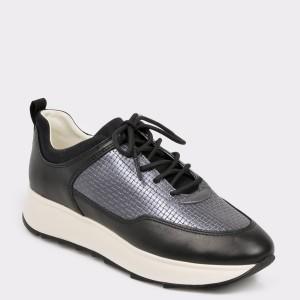 Pantofi sport GEOX negri, D925Tb, din piele ecologica