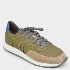 Pantofi sport GEOX kaki, U845Vc, din material textil