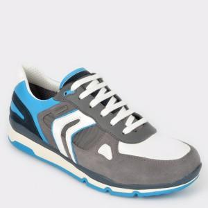Pantofi sport GEOX gri, U92S7A, din piele ecologica
