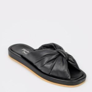 Papuci FLAVIA PASSINI negri, 28559, din piele naturala