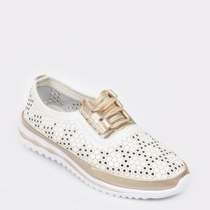 Pantofi FLAVIA PASSINI albi, 8W2012, din piele naturala