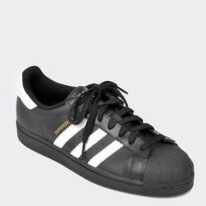Pantofi sport ADIDAS negri, B27140, din piele naturala
