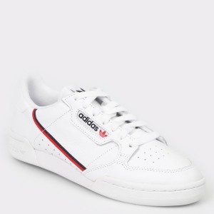 Pantofi sport ADIDAS albi, G27706, din piele naturala