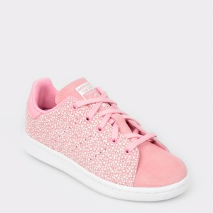Pantofi Sport Pentru Copii Adidas Roz, F34168, Din Piele Ecologica