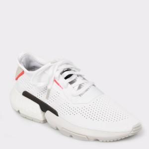 Pantofi sport ADIDAS albi, Db3537, din material textil